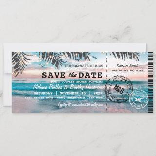 Save the Date Couples Shower Tropical Beach