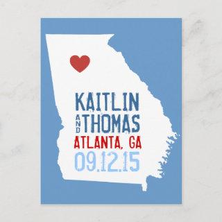 Save the Date - Customizable - Georgia Announcement Postcard