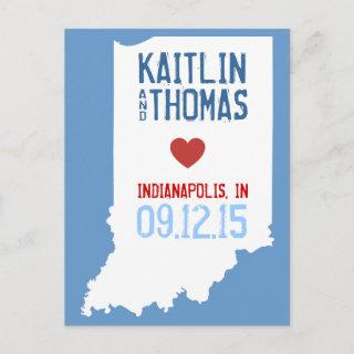 Save the Date - Customizable - Indiana Announcement Postcard