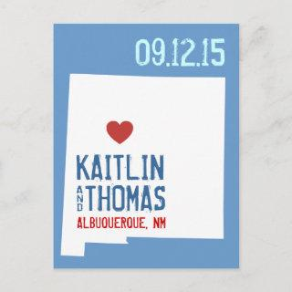 Save the Date - Customizable - New Mexico Announcement Postcard
