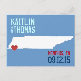 Save the Date - Customizable - Tennessee Announcement Postcard