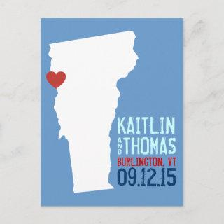 Save the Date - Customizable - Vermont Announcement Postcard