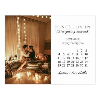 Save the Date December 2022 Monthly Calendar Postcard