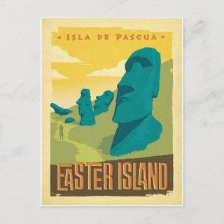 Save the Date | Easter Island, Chile Announcement Postcard