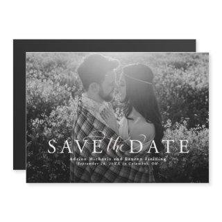 Save the date elegant photo magnetic