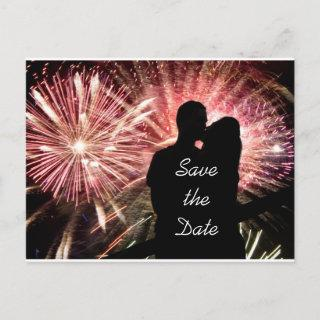 Save the Date Engagement Wedding Announcement Postcard