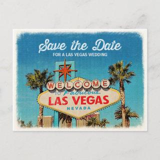Save the Date for a Fabulous Las Vegas Wedding Announcement Postcard