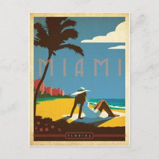 Save the Date | Miami, FL Announcement Postcard
