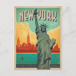 Save the Date | NYC - Lady Liberty 2 Announcement Postcard
