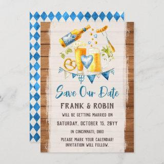 Save The Date Oktoberfest Wedding Bavarian Card