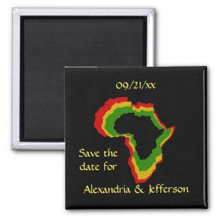 """Save the Date"" - Pan African Colors Magnet"