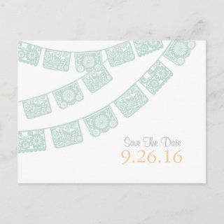 Save the Date Papel Picado Postcard