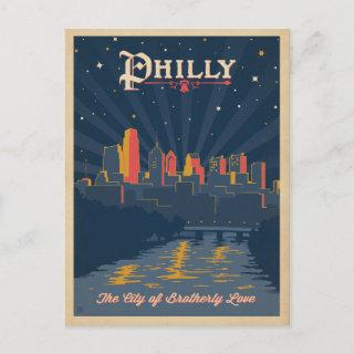 Save the Date | Philadelphia, PA Announcement Postcard