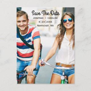 Save the Date Photo Card | Trendy, Modern, Casual