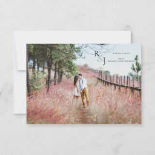 Save the Date Photo Monogram Card