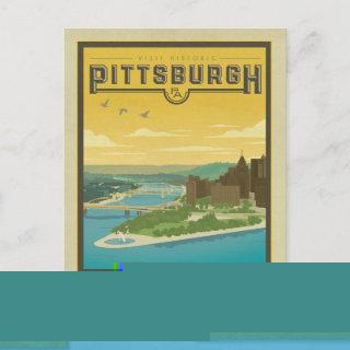 Save the Date | Pittsburgh, PA - City of Bridges Announcement Postcard