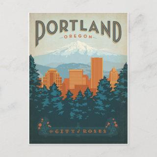 Save the Date | Portland, OR Announcement Postcard