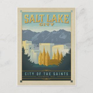 Save the Date | Salt Lake City, UT Announcement Postcard