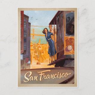 Save the Date | San Francisco, CA - Trolly Announcement Postcard