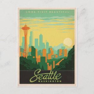 Save the Date | Seattle, WA Announcement Postcard