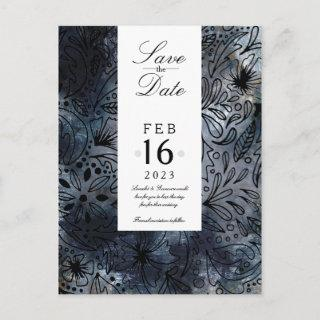 Save the Date, Steampunk watercolour by nakedprint Postcard