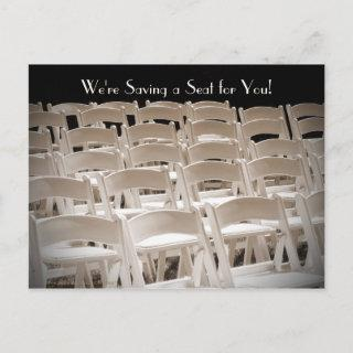 Save the Date Vow Renewal Ceremony Chairs Announcement Postcard