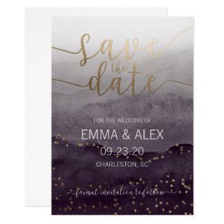Save the Date Watercolor Invitations