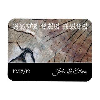 Save the Date Wood Grain Wedding Magnet