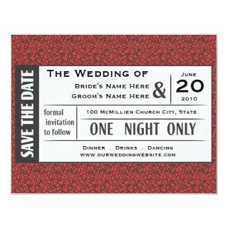 Save your Ticket! Invitations