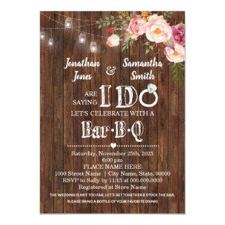 Saying I do barbeque stock the bar wedding shower Invitations