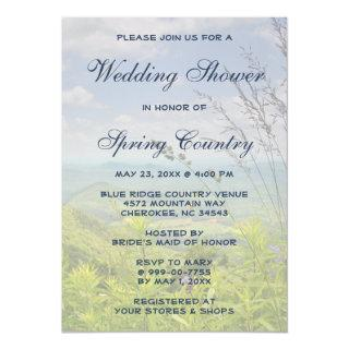 Scenic Mountain Country Spring Bridal Shower Invitation