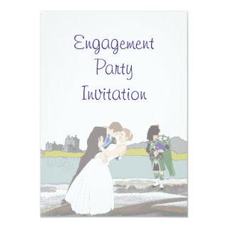 Scottish, Celtic Engagement Party Invitations