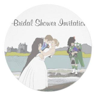 Scottish, Celtic Wedding Theme Bridal Shower Invitations