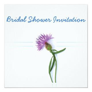 Scottish, Celtic Wedding Thistle Theme Bridal Show Invitation