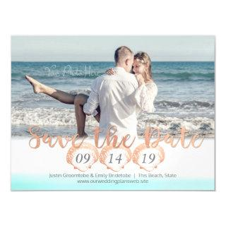 Seashell Beach Magnetic Save the Date Magnetic Invitations