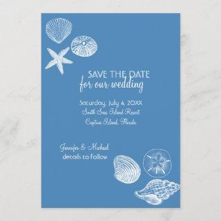 Seashell Collection Save the Date Announcement