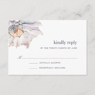 Seaside | Nautical Seashell RSVP Card
