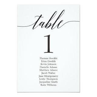 Seating Plan Individual Table Card Modern Script