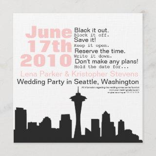 Seattle Cityscape Save the Date