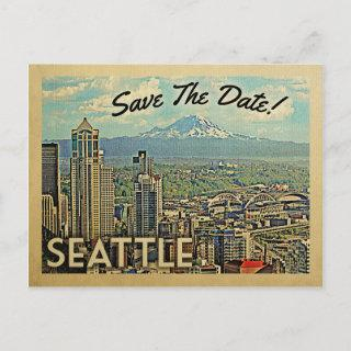 Seattle Save The Date Vintage Postcards
