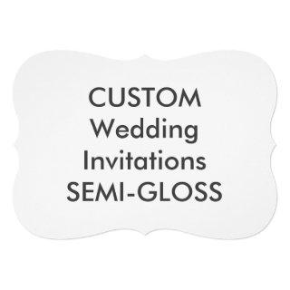 "SEMI-GLOSS 110lb 7""x5"" Bracket Wedding Invitations"