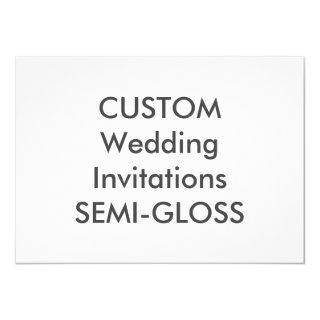 "SEMI-GLOSS 110lb 7"" x 5"" Wedding Invitations"