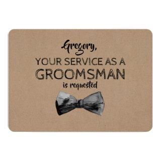 Service as a Groomsman Requested - Funny Proposal Invitations