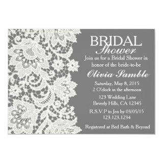 Shabby Chic Lace Bridal Shower Invitation