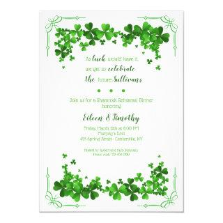 Shamrock Corners Rehearsal Dinner Invitations