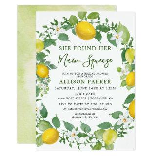 She Found Her Min Squeeze Lemon Bridal Shower Invitations