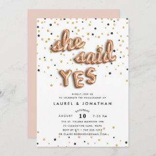 She Said Yes | Engagement Party Invitations