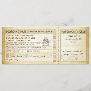 ship boarding pass wedding tickets-invites & rsvp invitation