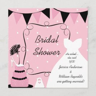 Shoe For Thought Bridal Shower Invitation
