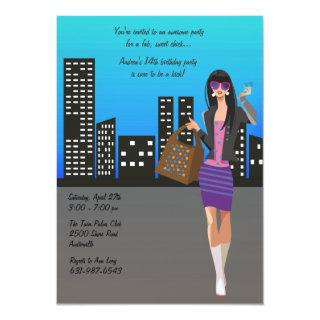 Shopping Girl Invitations
